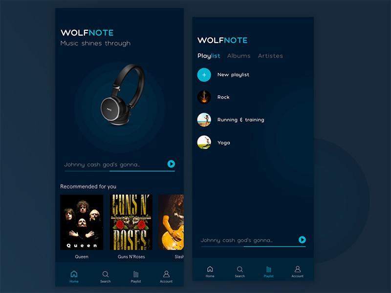 13款音乐APP UI概念设计