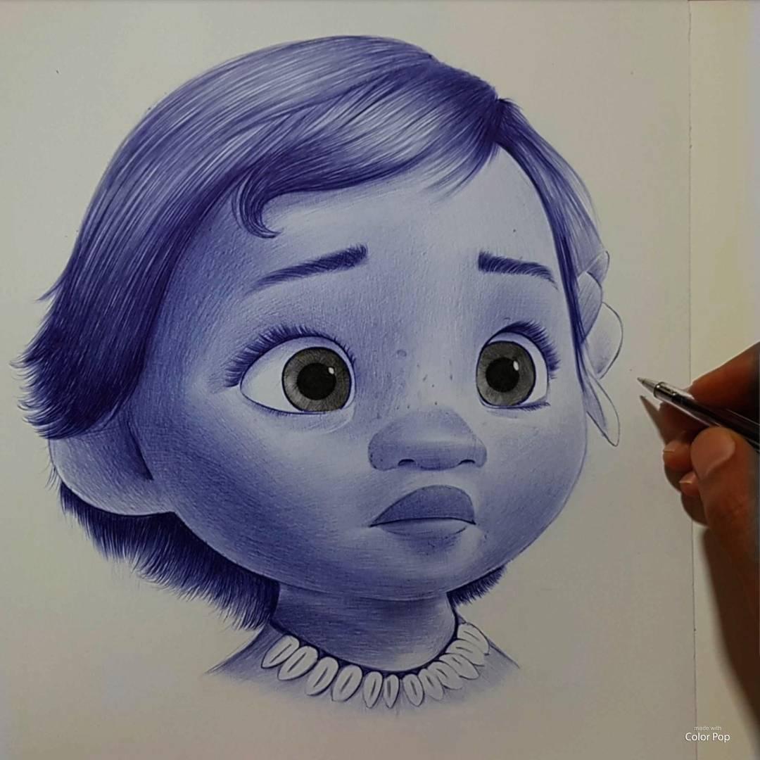 Hisham Albayyat可愛人物鉛筆肖像畫