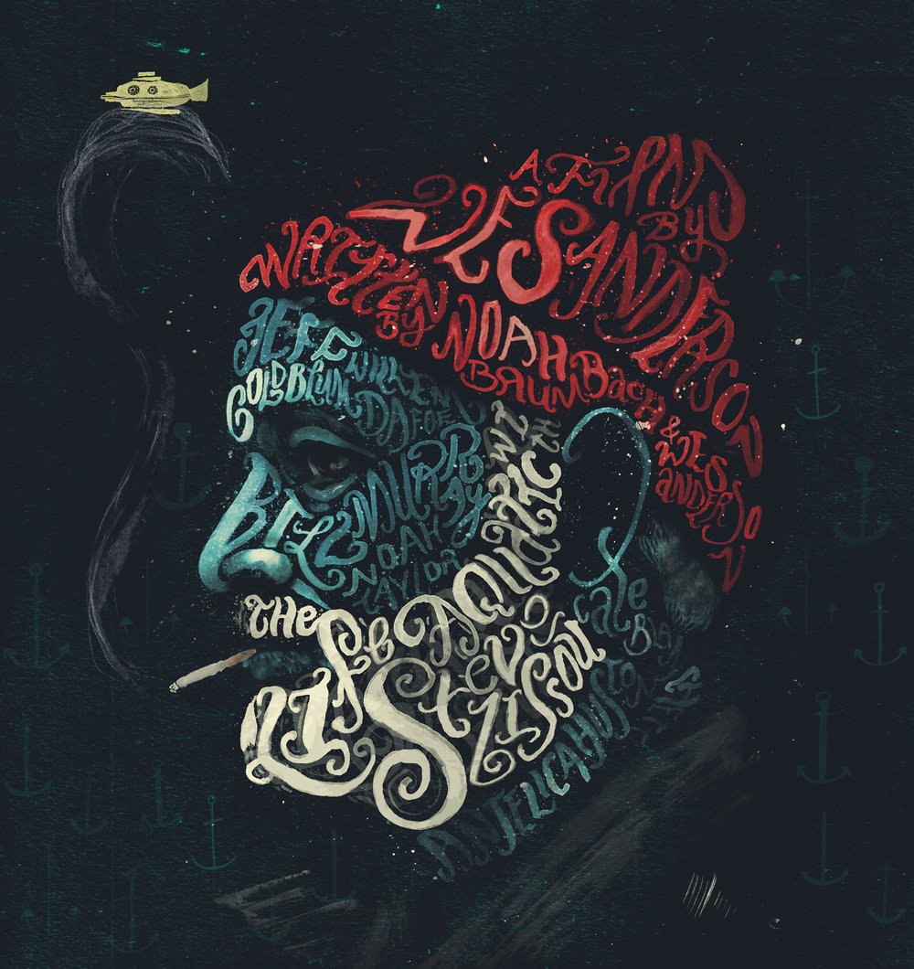 Peter Strain手绘字体组成的肖¤像插画(二)