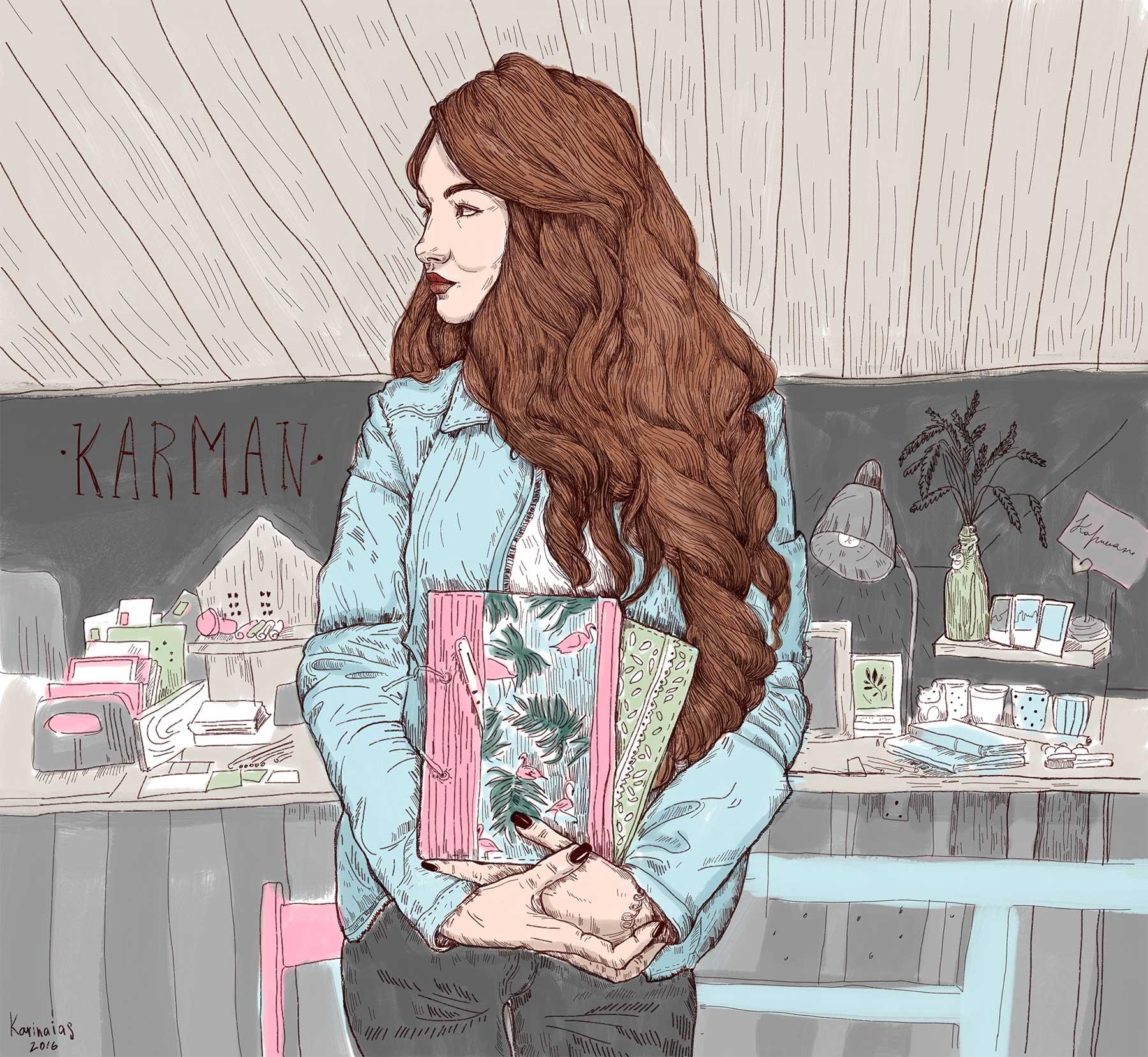 俄羅斯Karina Yashagina驚艷的人物插畫