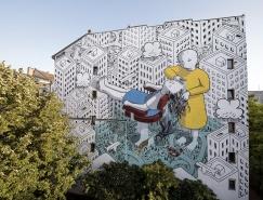 意大利¤米洛(Millo)富有情△感的街头壁画№ ???