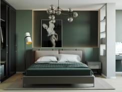 自然,充满活力的绿色卧室设计