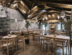 灰色调与木质空间:乌克兰YAVIR餐厅皇冠新2网