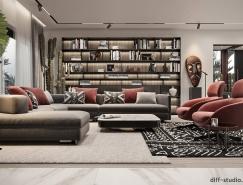 充满非洲元素和部落风情的现代家居装修