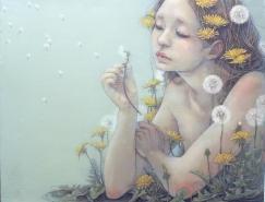 日本插畫家Miho Hirano筆下細膩優美的少女插畫