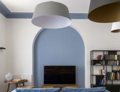 罗马浪漫蓝粉色公寓设计