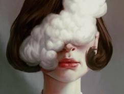 Aykut Aydogdu超现实风格肖像插画