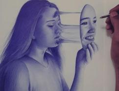Hisham Albayyat可爱人物铅笔肖像画