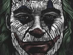 Peter Strain手绘字体组成的肖像插画(二)
