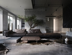 冷酷野性的水泥灰,定义另类奢华家居空间