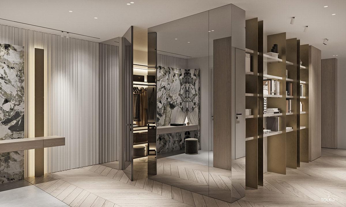 莫斯科简洁大气的现代豪宅设计