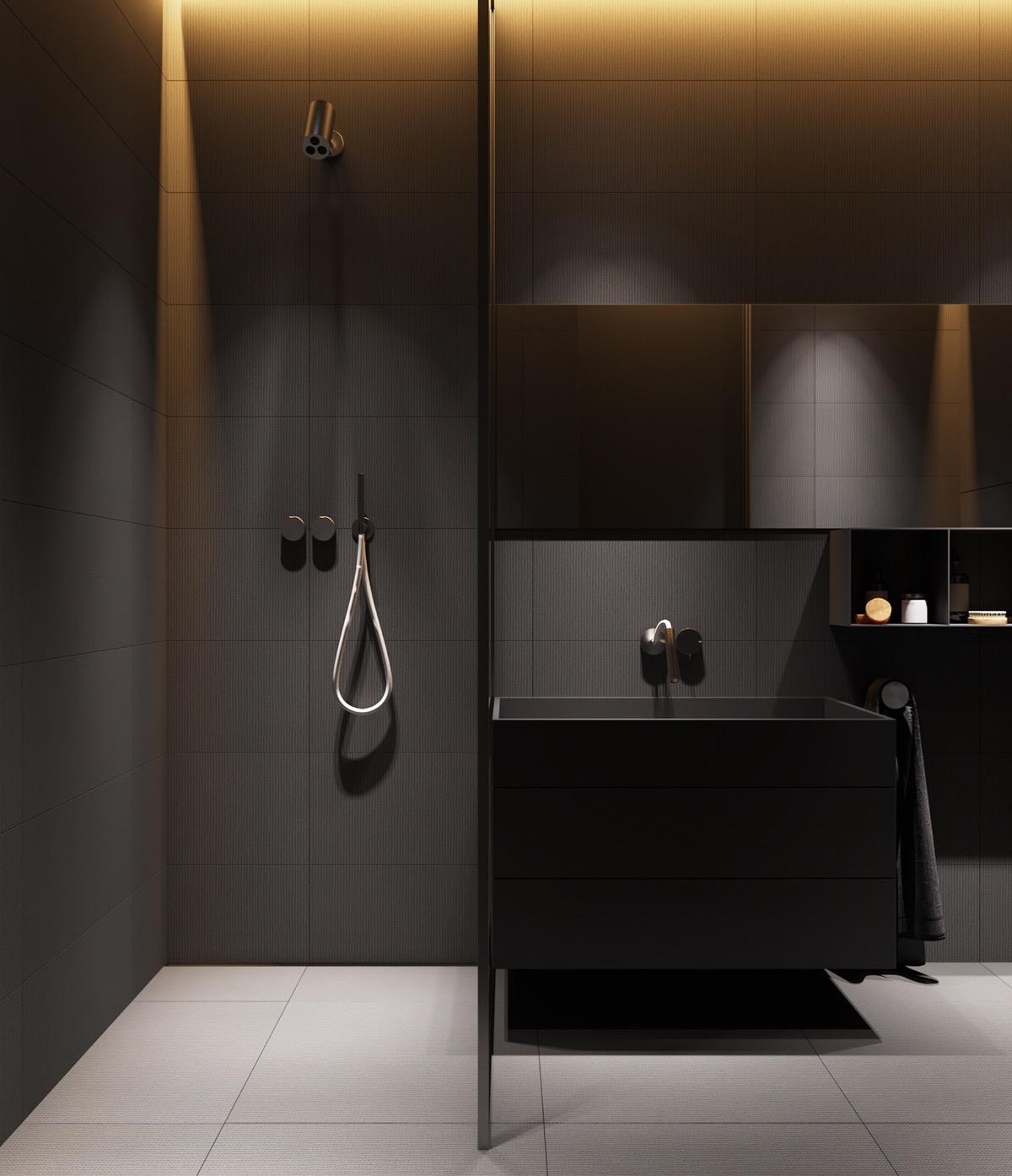 大气高级感的深灰色 2套现代气质住宅设计
