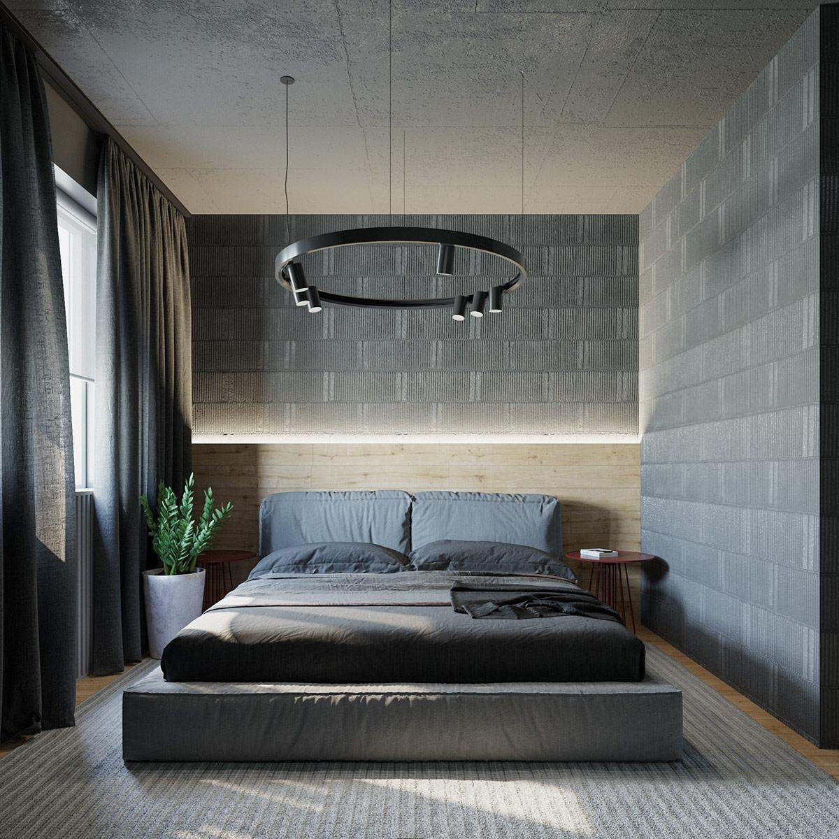 热情红与高级灰演绎现代家居设计