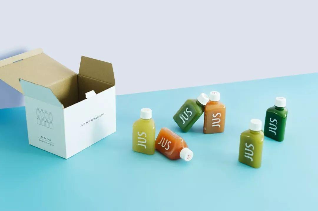 JUS果汁极简风格包装设计