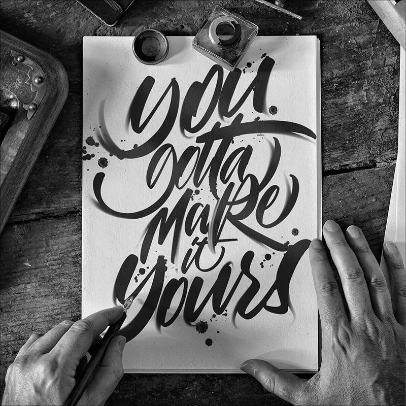 Luis Lili炫酷手绘书法字设计