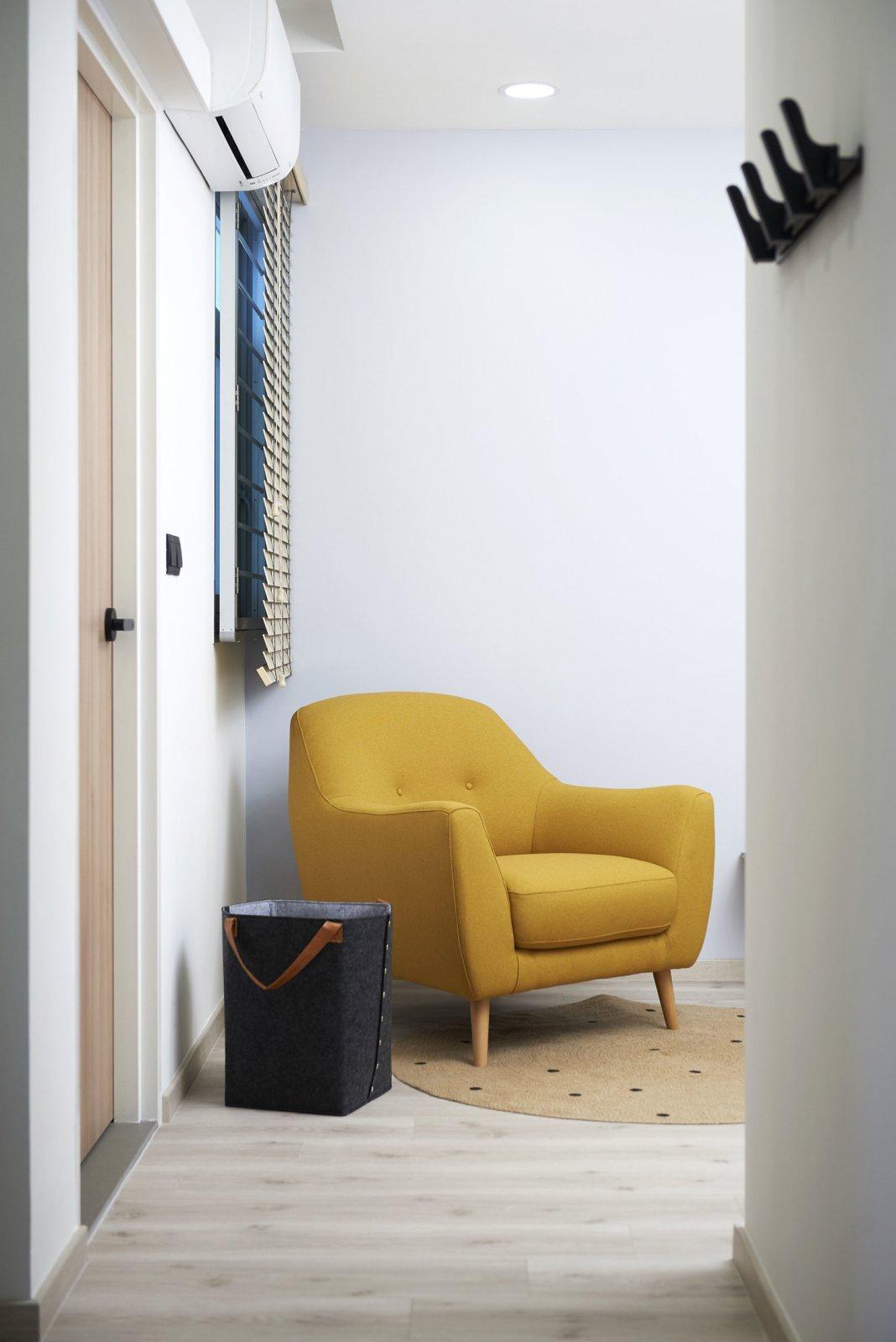 溫煦的暖黃調  新加坡99㎡北歐風親子宅