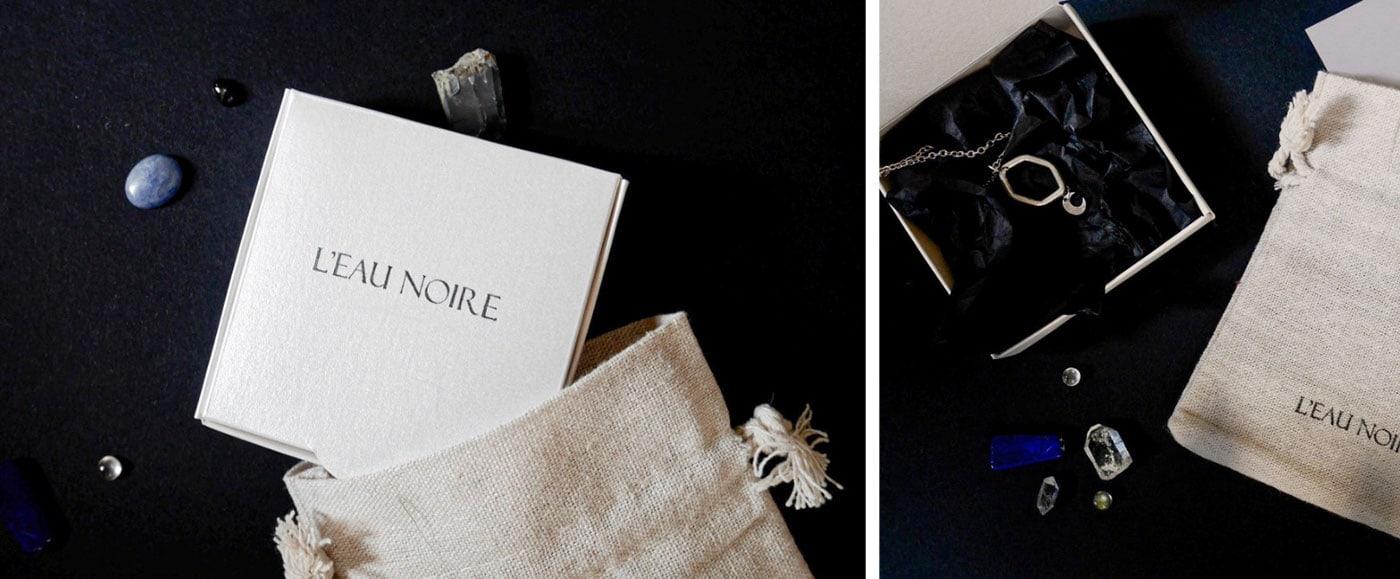 珠宝制造商L'eau noire品牌形象设计