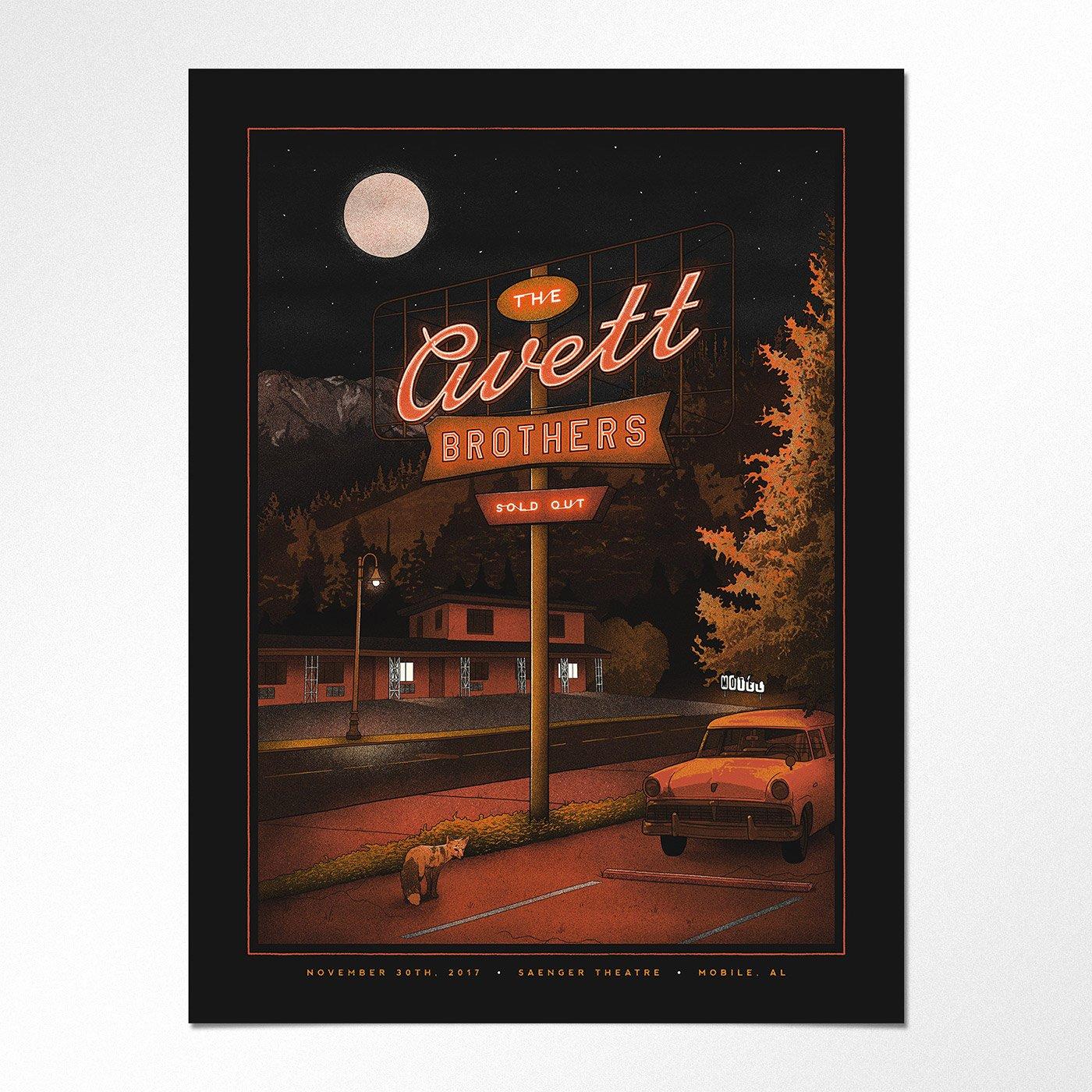 精致细腻的插画风 Nicholas Moegly音乐和演唱会海报设计