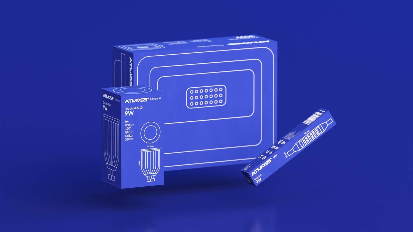 Atmoss照明產品包裝設計