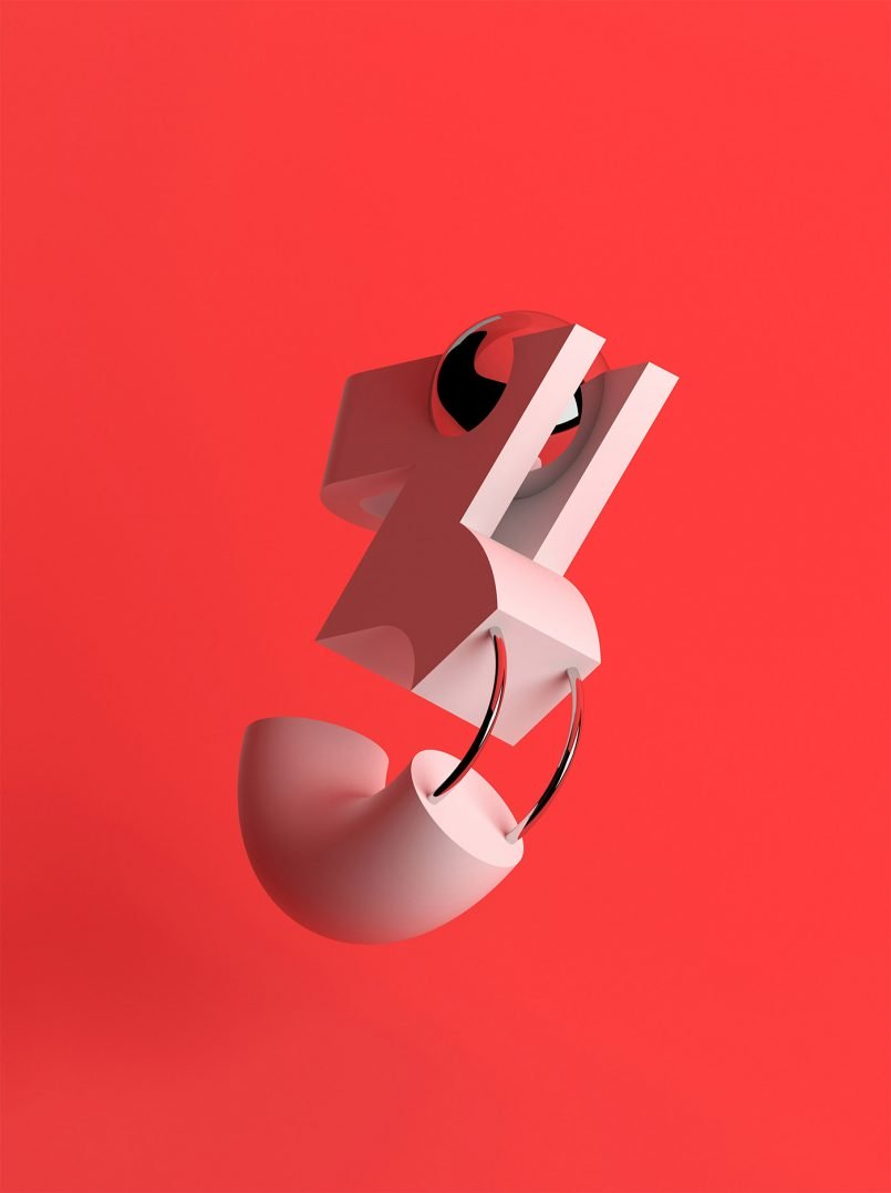 Sawdust数字3D字体艺术