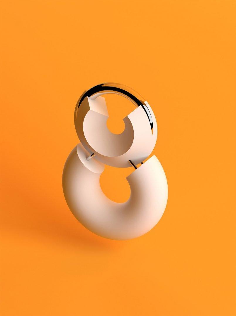 Sawdust數字3D字體藝術