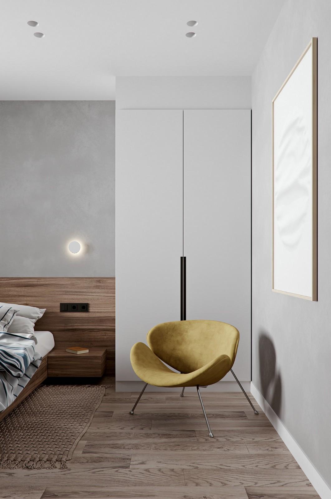 宁静的北欧元素极简风格住宅设计