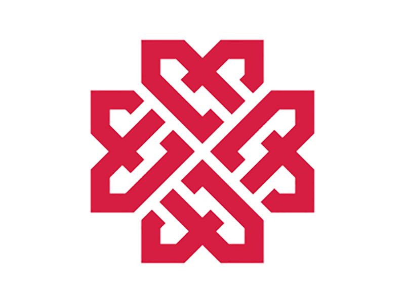 标志设计元素应用实例:编织