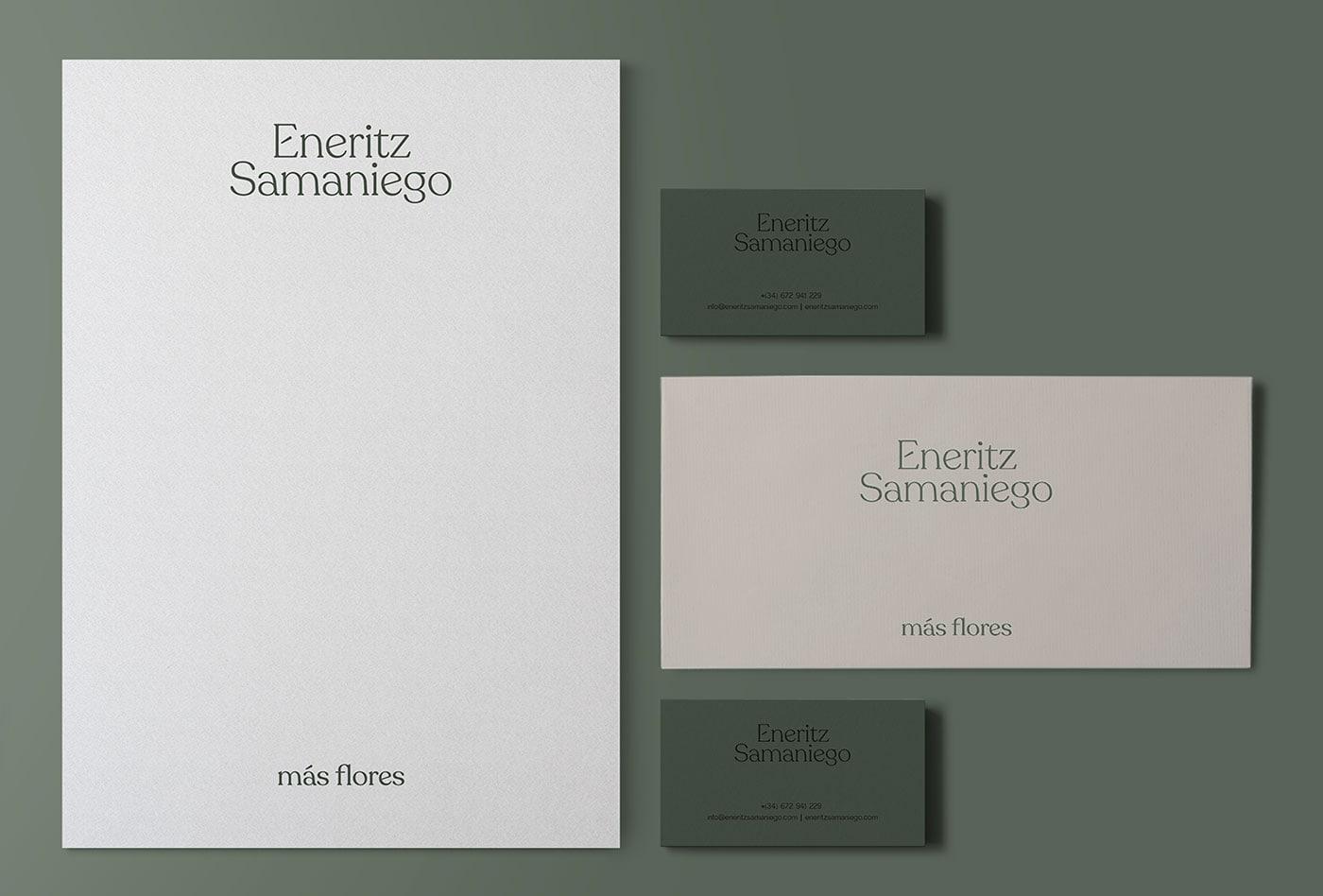 Eneritz Samaniego花店视觉识别和品牌设计
