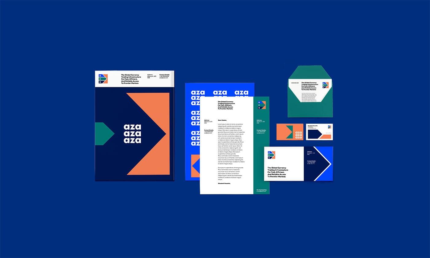 支付平台Aza品牌形象设计