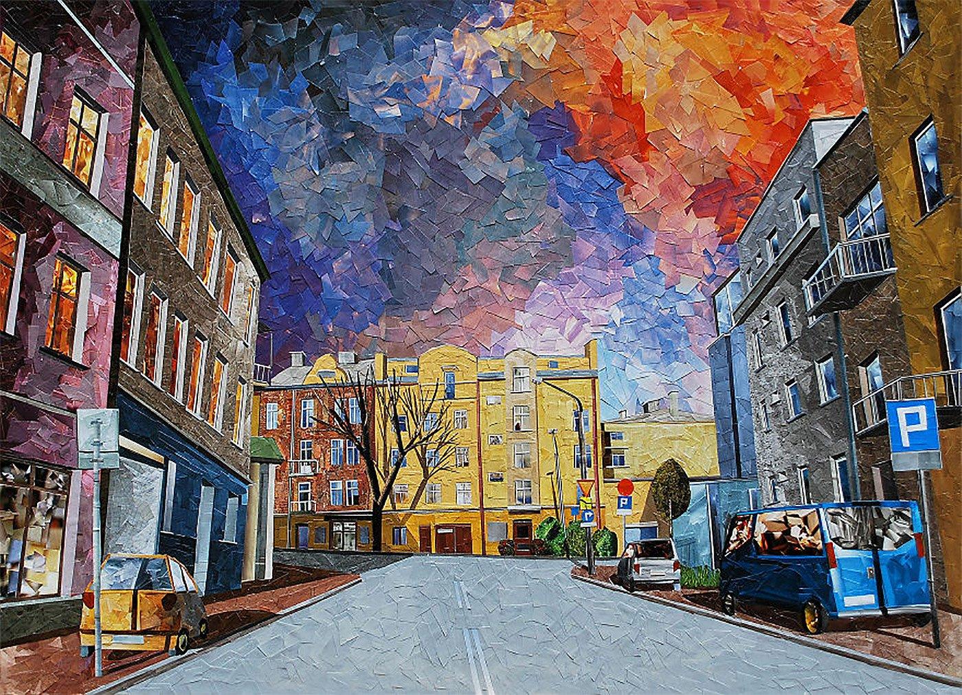 纸上的城市景观:波兰艺术家Albin Talik拼贴画艺术