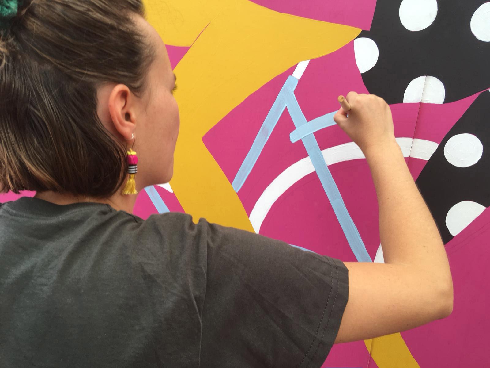 PerrineHonoré可爱又色彩丰富的街头艺术壁画