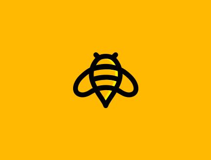 标志设计元素应用实例:蜂蜜