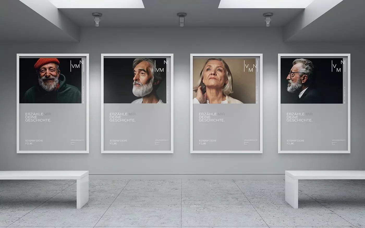 记录回忆的影像  VERGISSMEINNICHT影视公司品牌设计