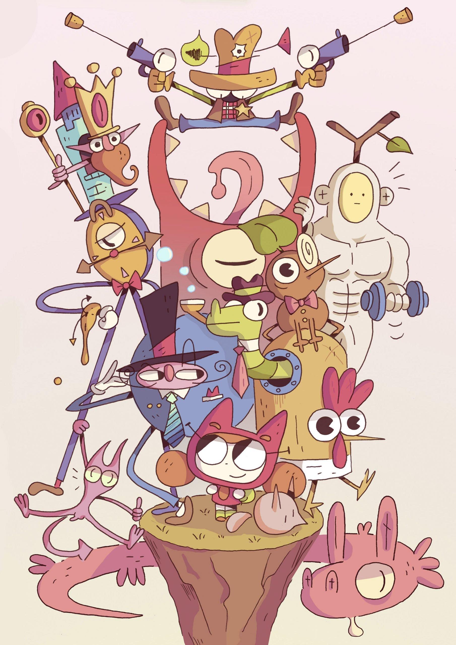 Herbert Ando可爱又古怪的角色插图设计