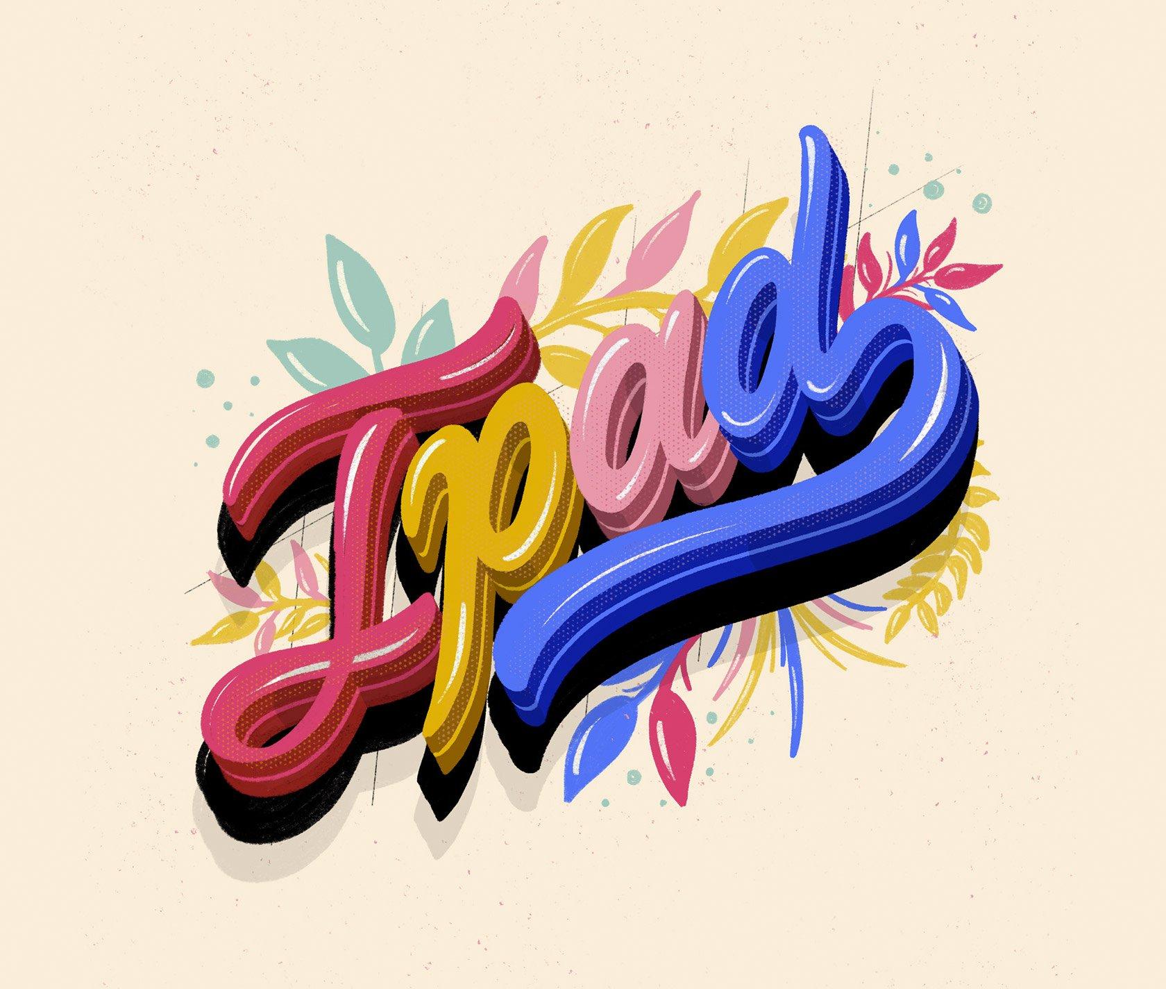 哥伦比亚设计师Nubikini字体艺术作品