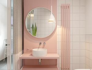 柔和浪漫的粉色浴室和卫生间设计
