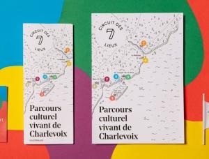 Le Circuit des 7 lieux:Charlevoix旅游宣传册设计