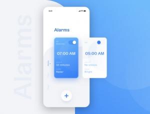 12款闹钟App界面设计