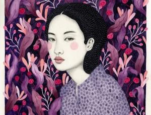 Sofia Bonati超现实风格女性肖像插画作品
