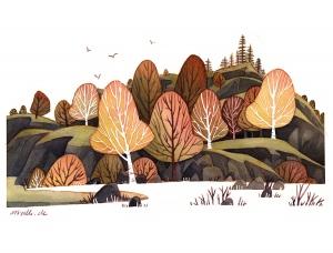 德国Iraville温馨怀旧的风景插画