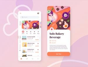 40款国外美食App UI设计