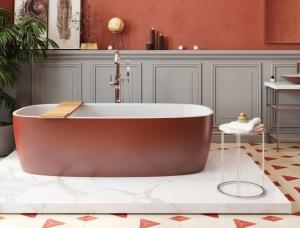 热情似火的红色浴室和卫生间设计