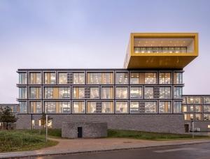 几何形状和放大的乐高积木:LEGO乐高总部办公
