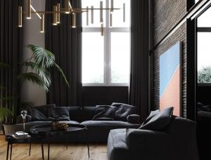 酷黑工业风的时尚现代住宅