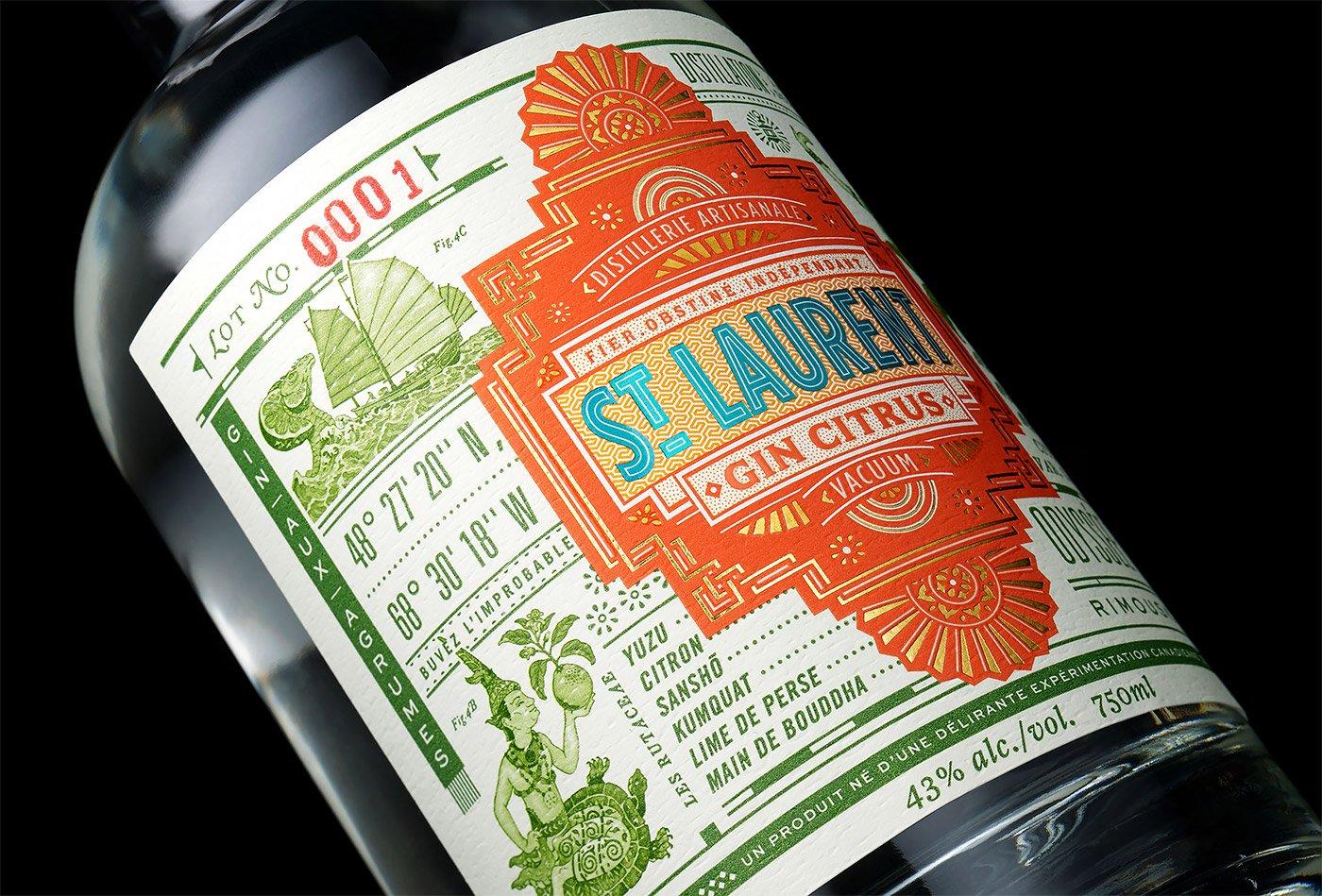 精致的字体排版 Chad Michael酒包装设计