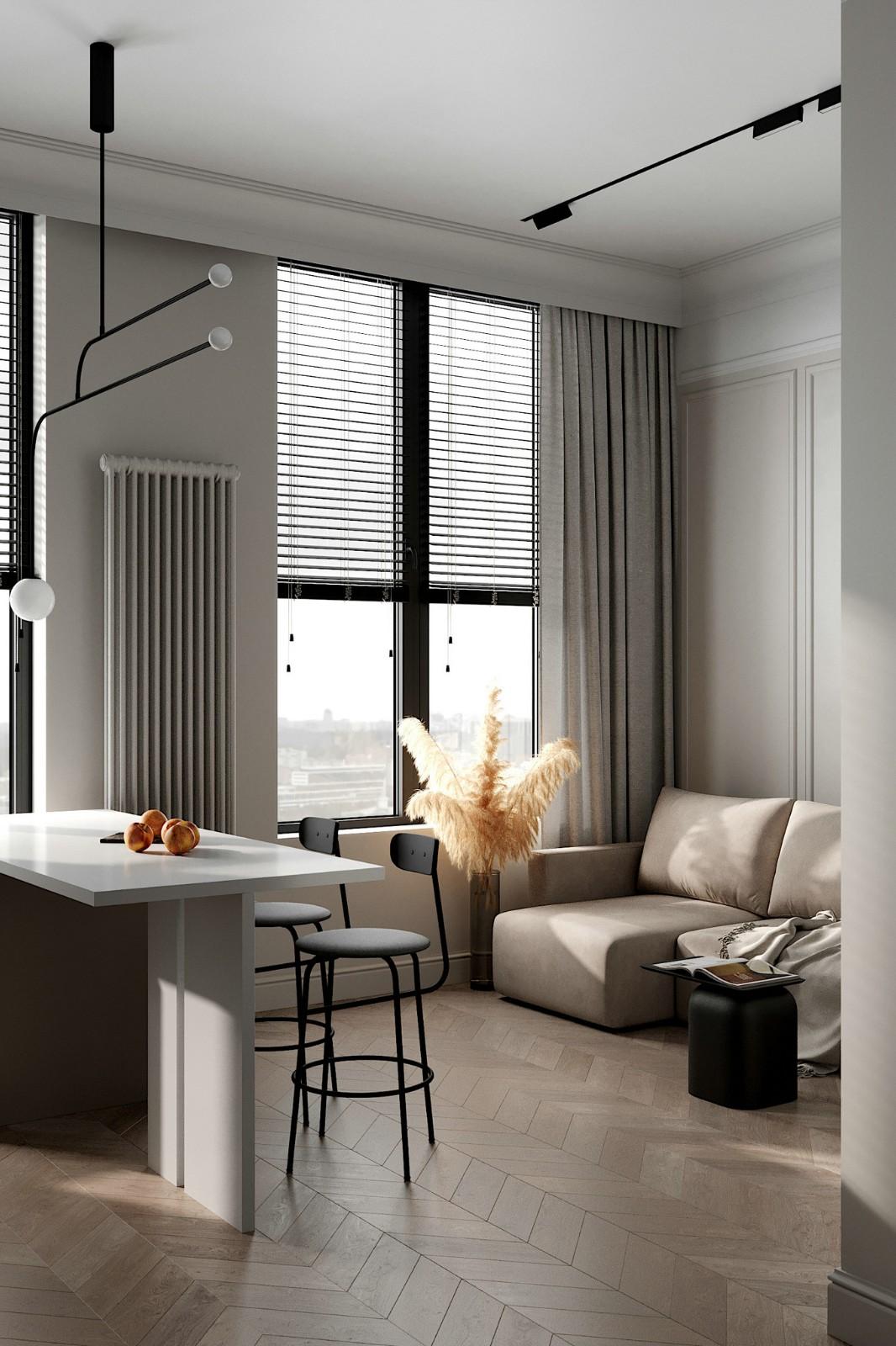 返璞归真自然风的一居室小户型公寓设计