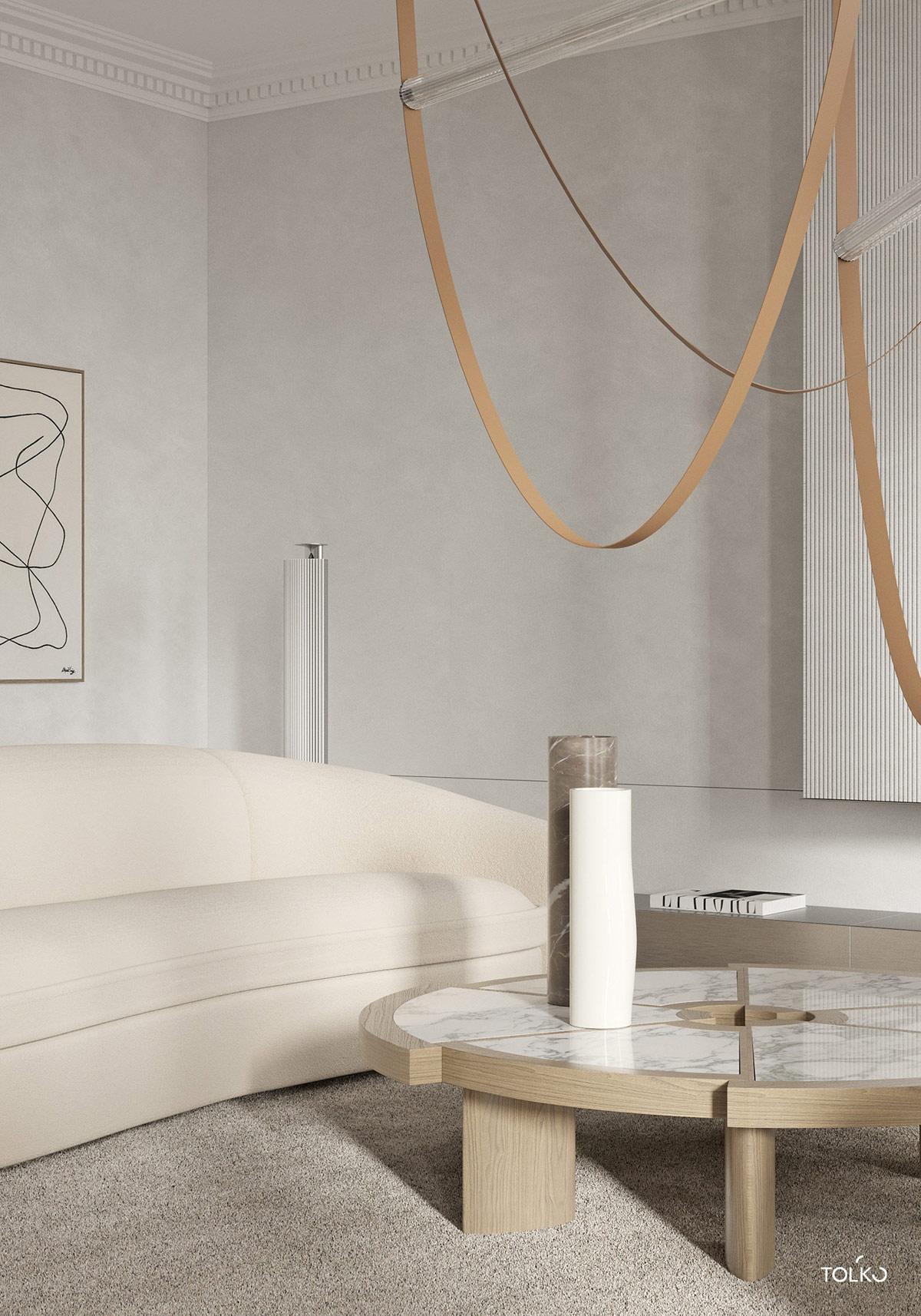 向往的悠闲时尚感!150平方米中性色装饰风公寓