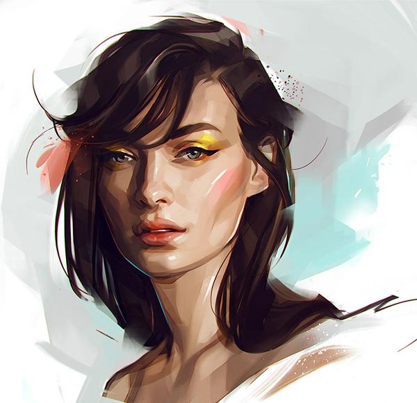 感受插画的力量 俄罗斯Viktor Miller-Gausa肖像插画作品