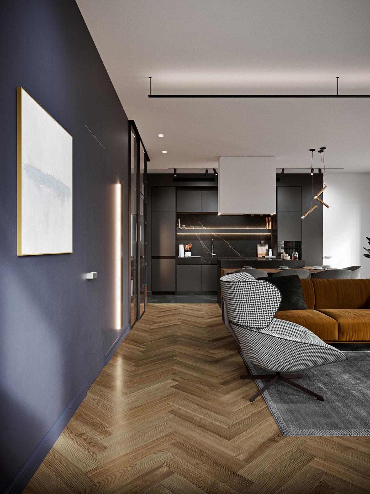 色彩赋予每个房间不同个性!俄罗斯110平缤纷的现代家居设计