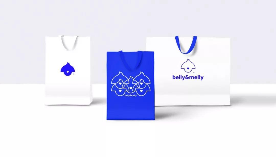 纯净的蓝 母婴品牌belly&melly视觉形象设计